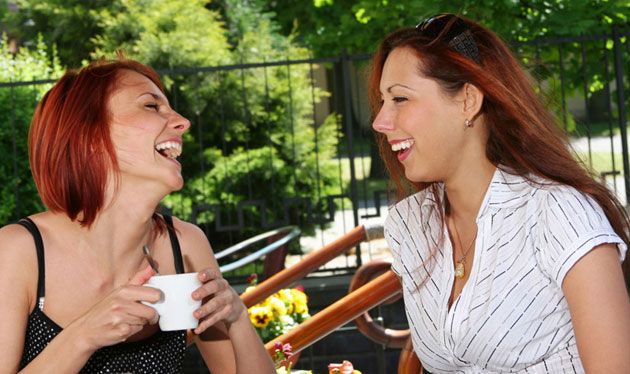 Friends enjoying Coffee